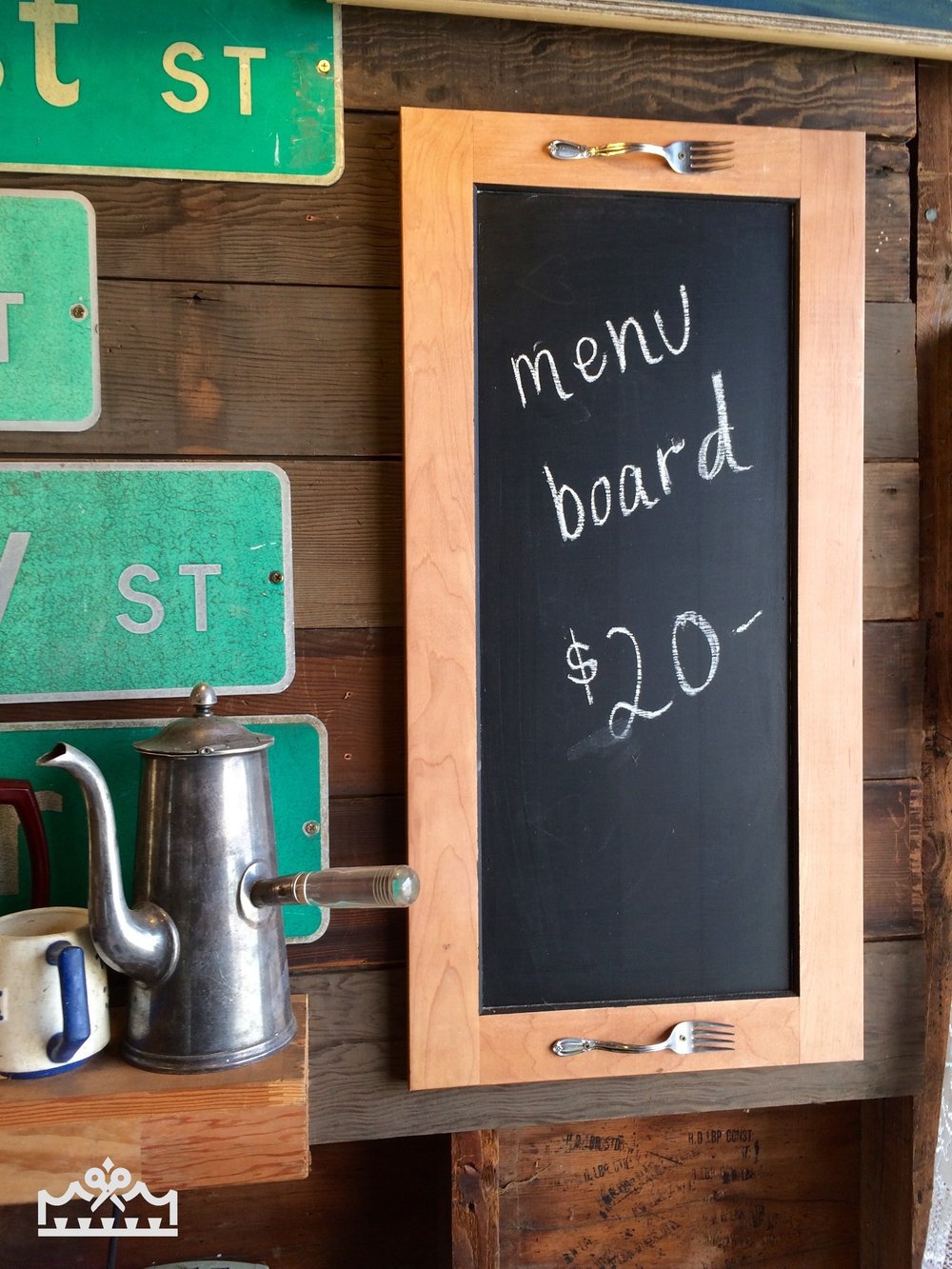 menu board chalkboard
