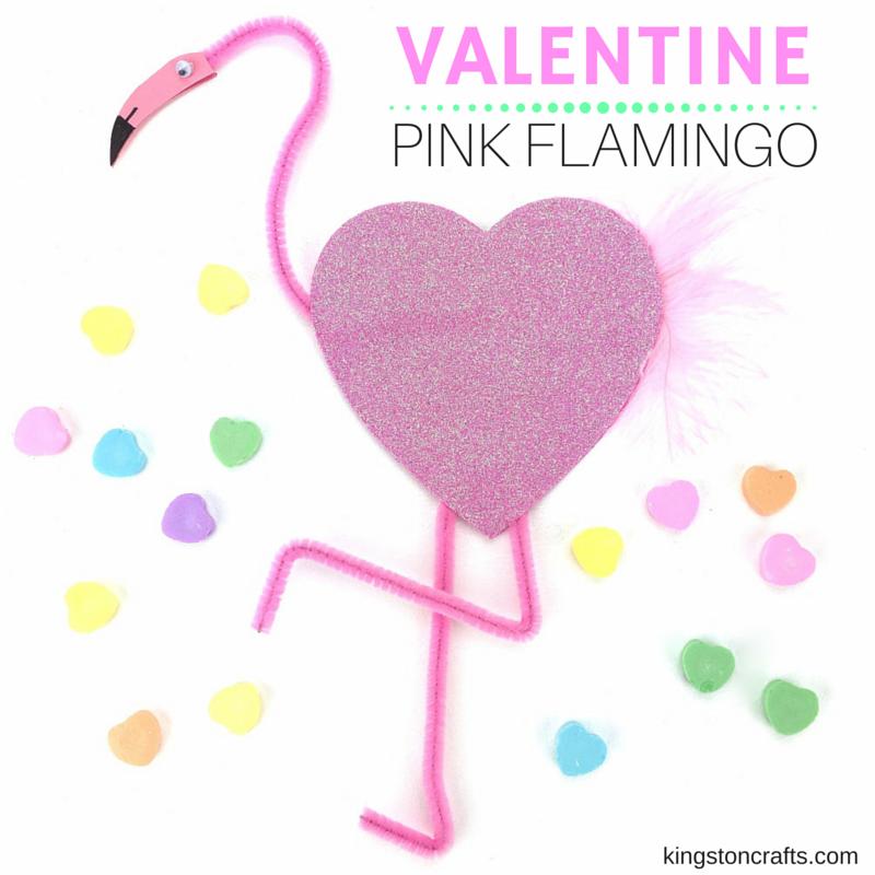 valentine pink flamingo