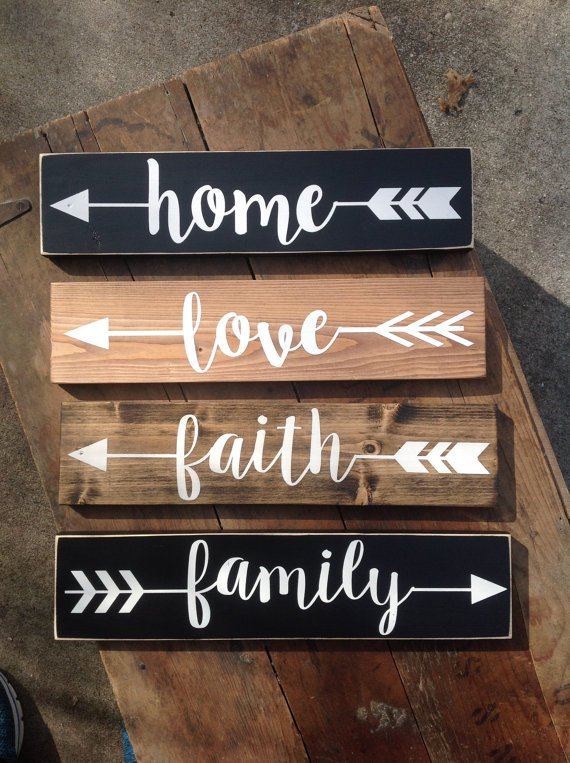 Arrow wood signs from DandelionSignShop