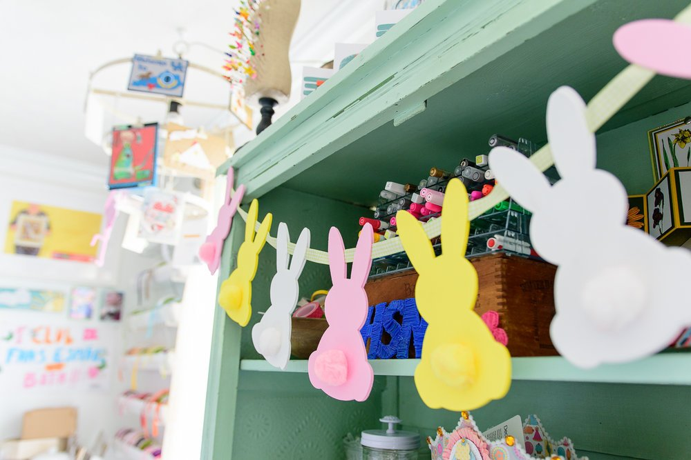 Easter bunny foam banner craft project