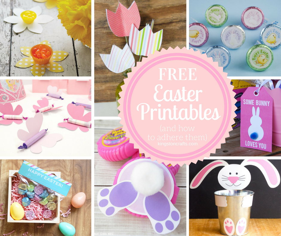 free easter printables and how to adhere them