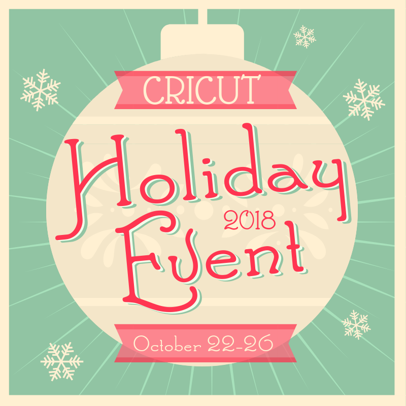 marketing flyer for Cricut Holiday Event