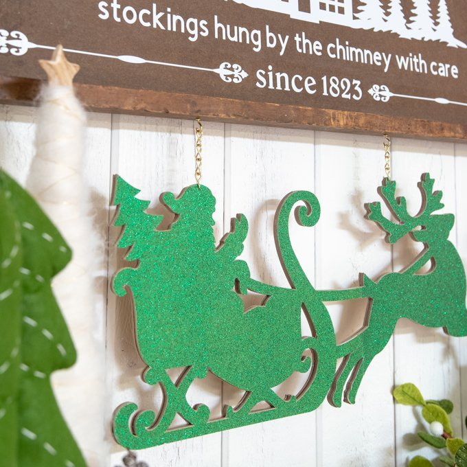 wooden cricut christmas bed & breakfast sign