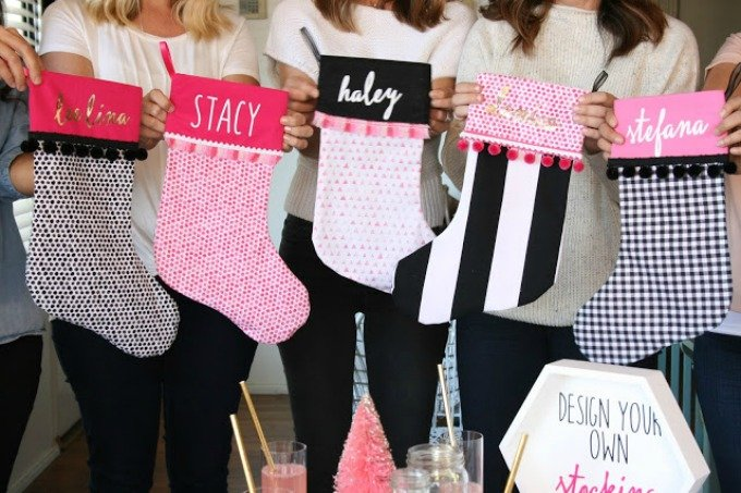 Not So Cil-Shea Christmas stocking making party
