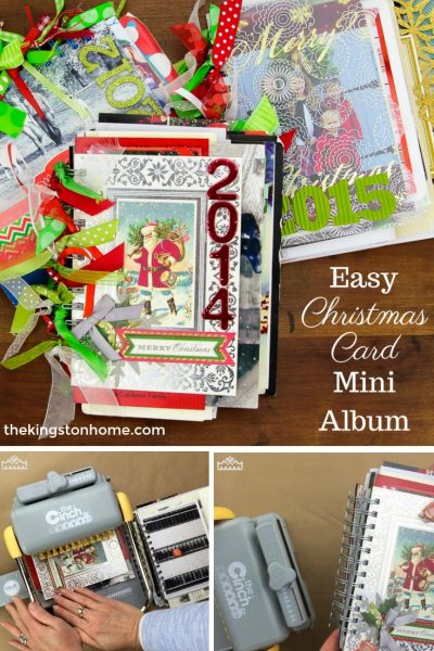 Easy Christmas Card Mini Album - The Kingston Home