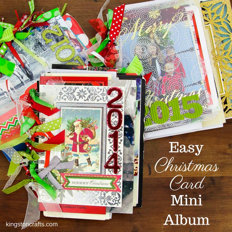 close up of christmas card mini albums