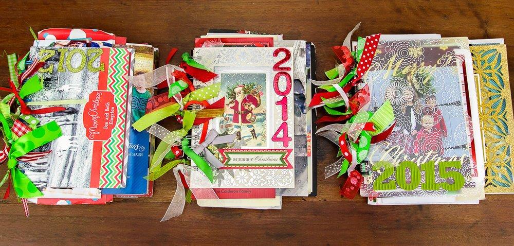 christmas cards mini albums