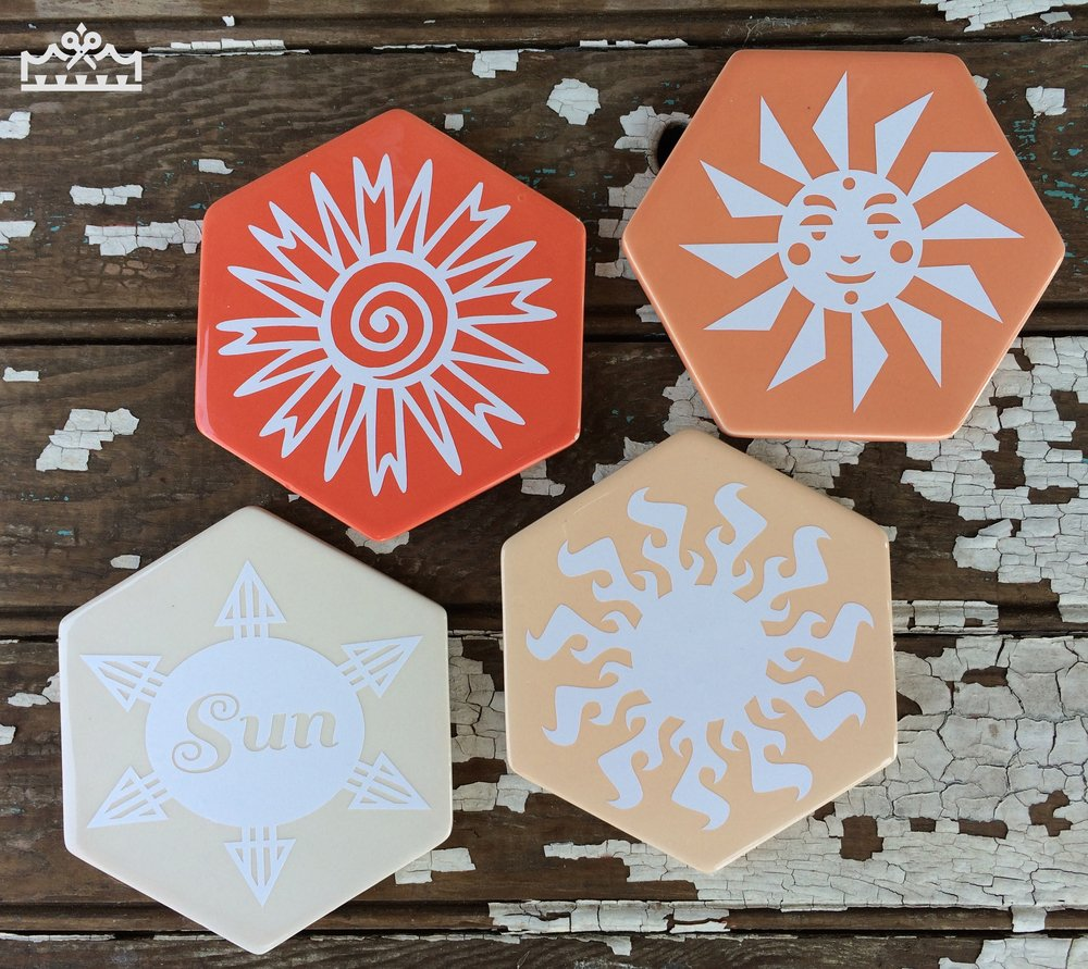 coasters on table