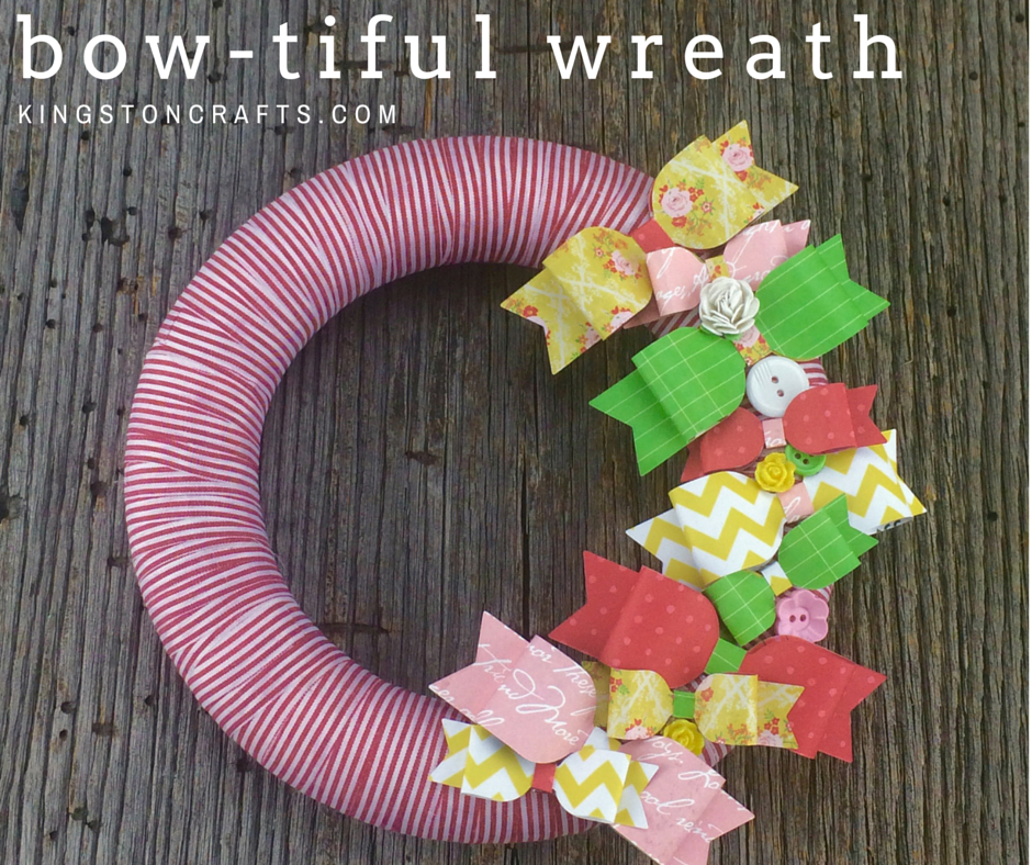 paper bow wreath