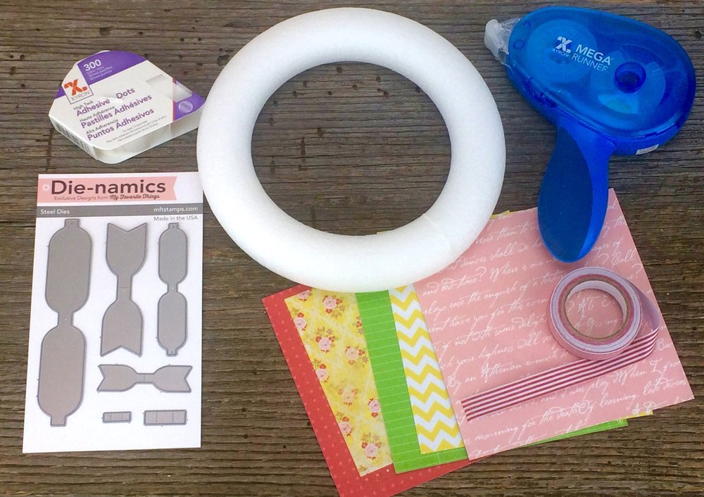 supplies for bow wreath
