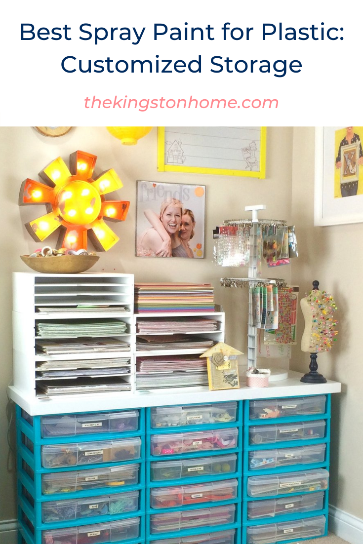 Best Spray Paint for Plastic: Customized Storage - The Kingston Home: Looking for the best spray paint for plastic? Then check out our number one recommendation, plus see our customized plastic storage project! via @craftykingstons