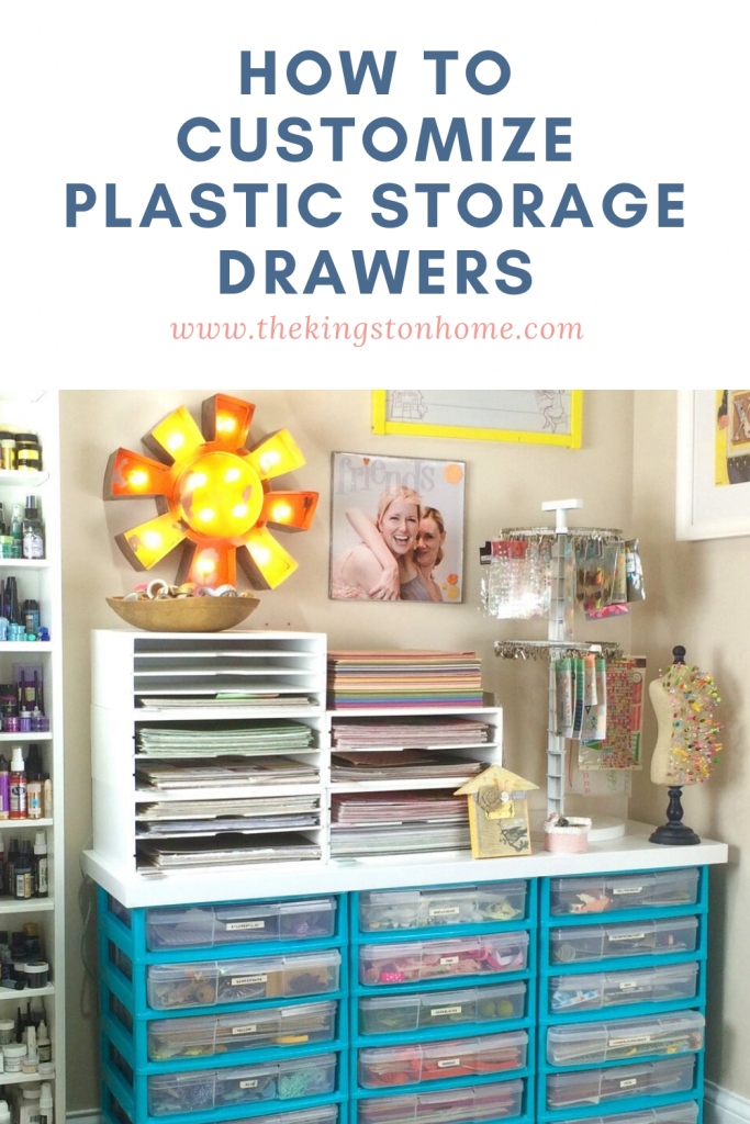 I {heart} spray paint - customize your plastic storage drawers! - The Kingston Home