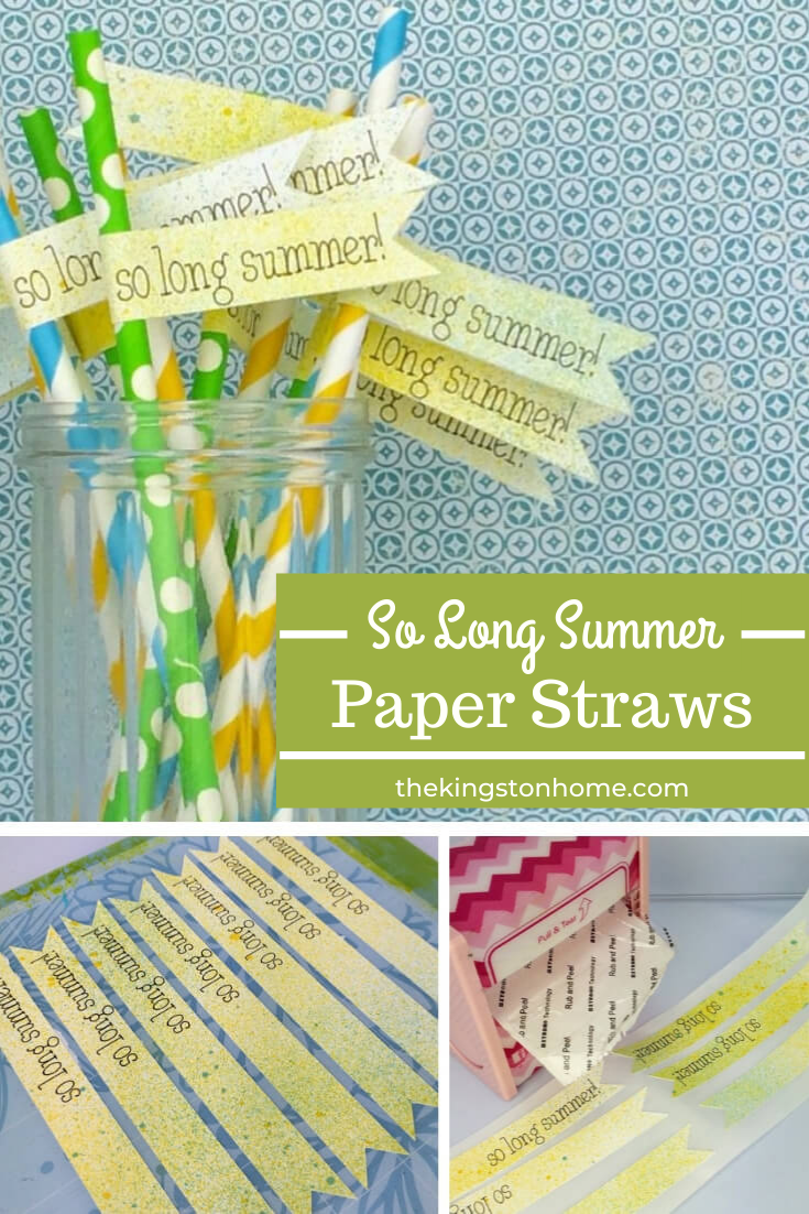 So Long Summer Paper Straws - The Kingston Home: Whether you're celebrating the change of seasons (yay!) or mourning the free wheelin' days of summer (boo!) - if you are having one last summer get together then this quick and easy paper straw DIY will be the perfect addition to your table! via @craftykingstons