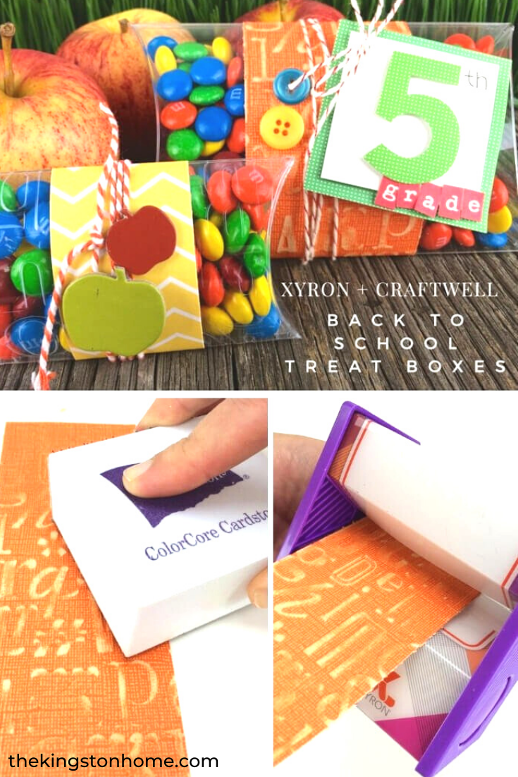 Xyron + Craftwell = Back to School Treat Boxes! - The Kingston Home: Learn how to create these adorable Back to School Treat Boxes using Xyron and Craftwell! via @craftykingstons
