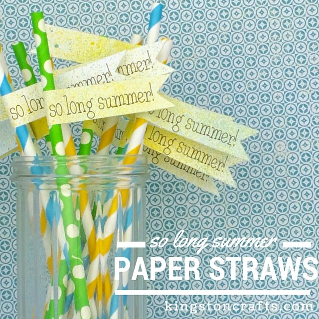 paper straw diy