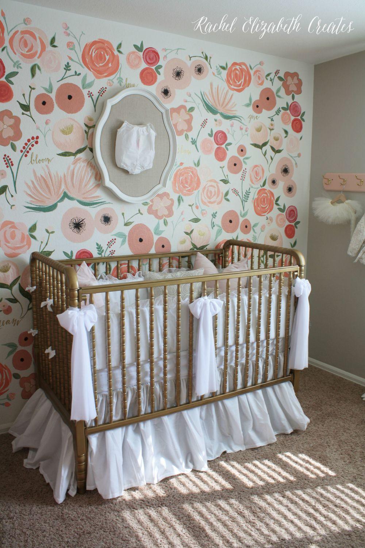 floral baby nursery