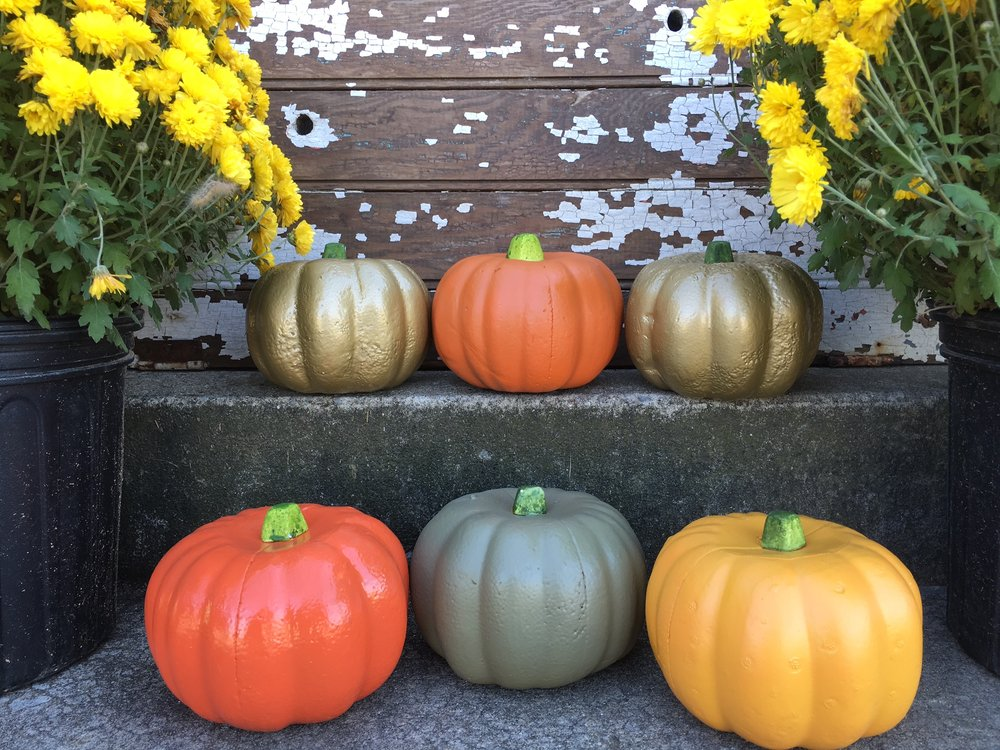 dollar tree pumpkin display