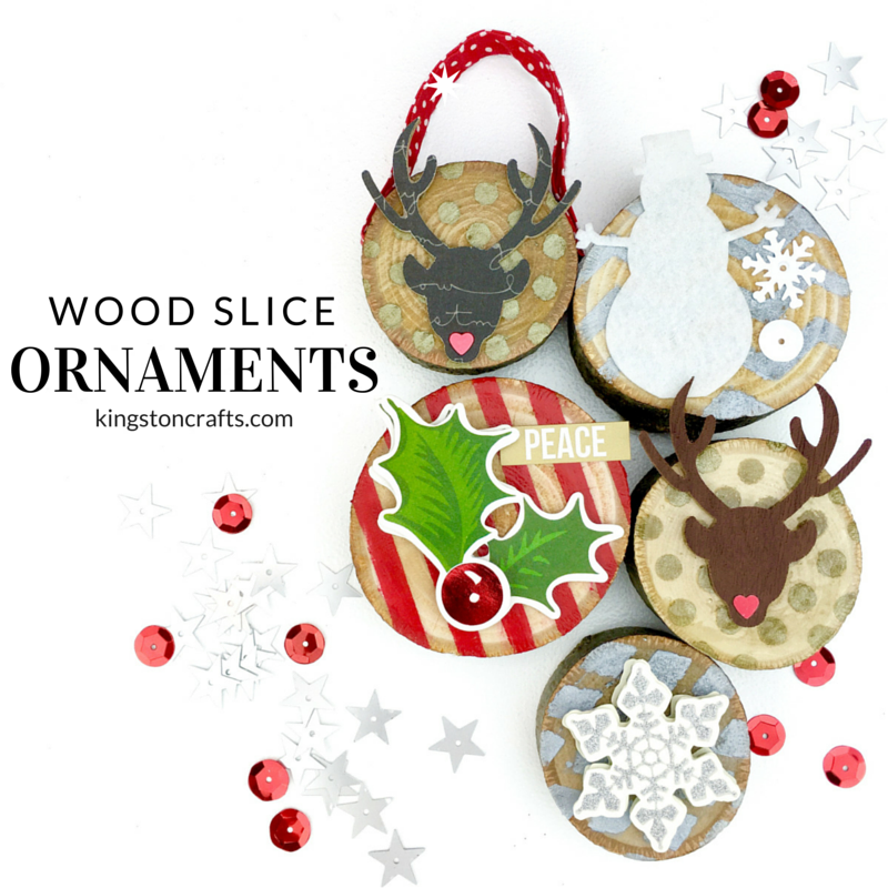 Xyron + Faber-Castell = Wood Slice Christmas Ornaments from The Kingston Home