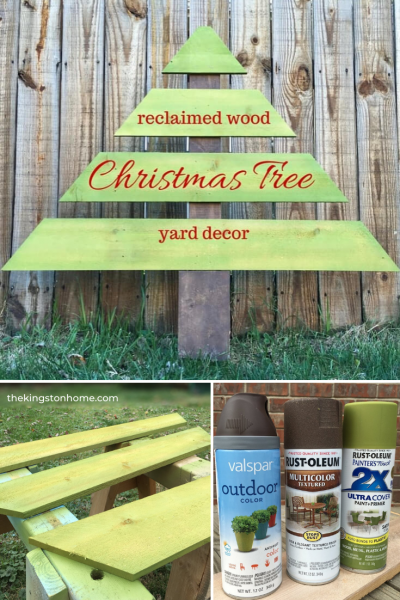 Reclaimed Wood Christmas Tree Yard Decor - The Kingston Home