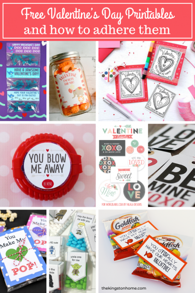 FREE Valentine's Day Printables and how to adhere them (as seen on HSN!) from The Kingston Home
