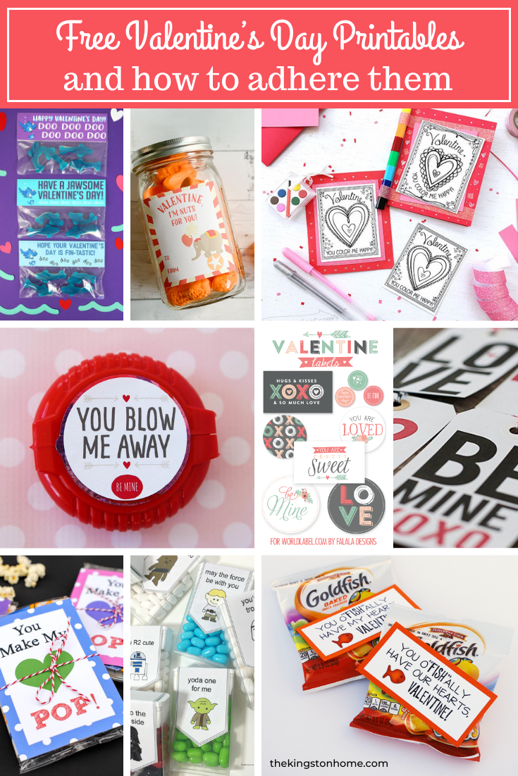 FREE Valentine's Day Printables and how to adhere them (as seen on HSN!) - The Kingston Home: Learn how to turn all those printables, that you have been saving on your computer, into fun projects using Xyron adhesive! Plus, check out these adorable and FREE Valentine's Day printables! via @craftykingstons