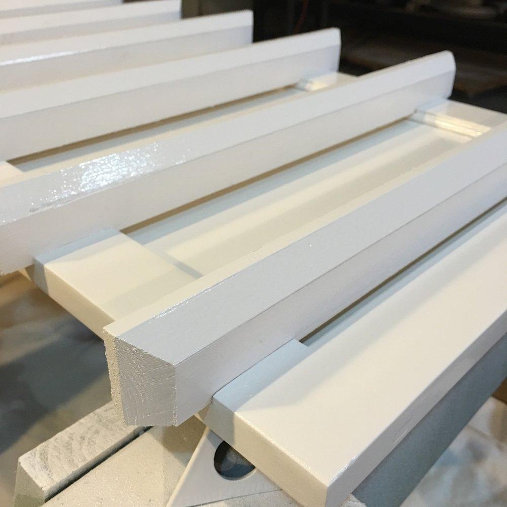 prep wood to turn cabinet door into shelf