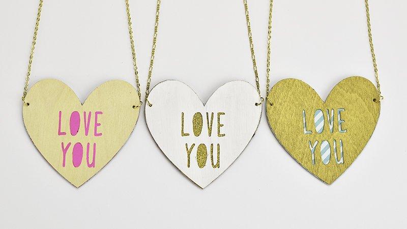 love you cricut necklaces