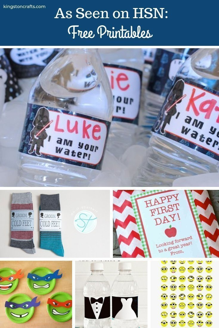 As Seen on HSN FREE Printables - The Kingston Home: If you were watching HSN and wanted to learn more about the free printables that you saw on air, then I have you covered! Below, I gathered up all of the free printables that were featured during my segments and where you can print them for yourself! via @craftykingstons