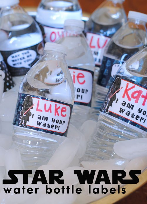 Star Wars Water Bottle Labels by Get Away Today