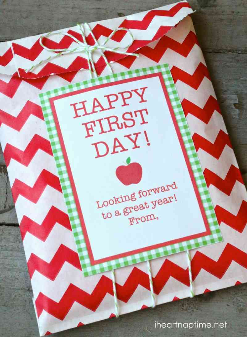 Happy First Day free printable by iheartnaptime