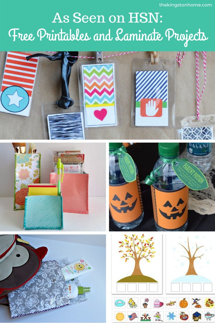 As Seen on HSN Free Printables and Laminate Projects - The Kingston Home: If you were watching HSN and wanted to learn more about the printables that you saw on air, then I have you covered! Below, I gathered up all of the printables that were featured during my segments, plus I am sharing the Laminate projects you also saw on air! via @craftykingstons