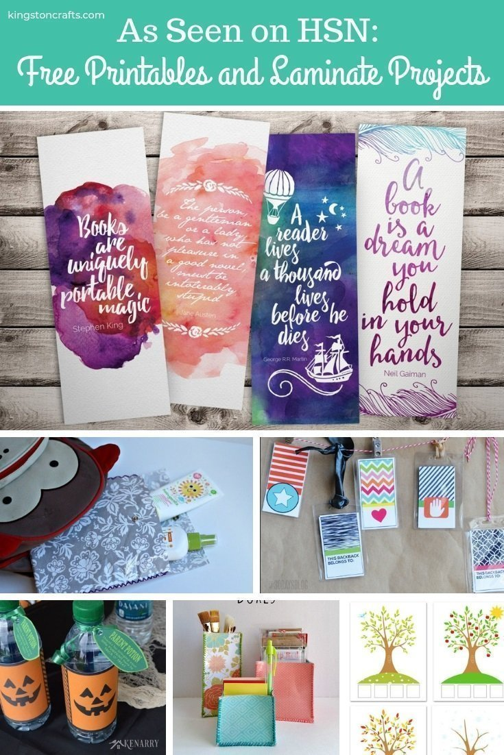 As Seen on HSN: Free Printables and Laminate Projects
