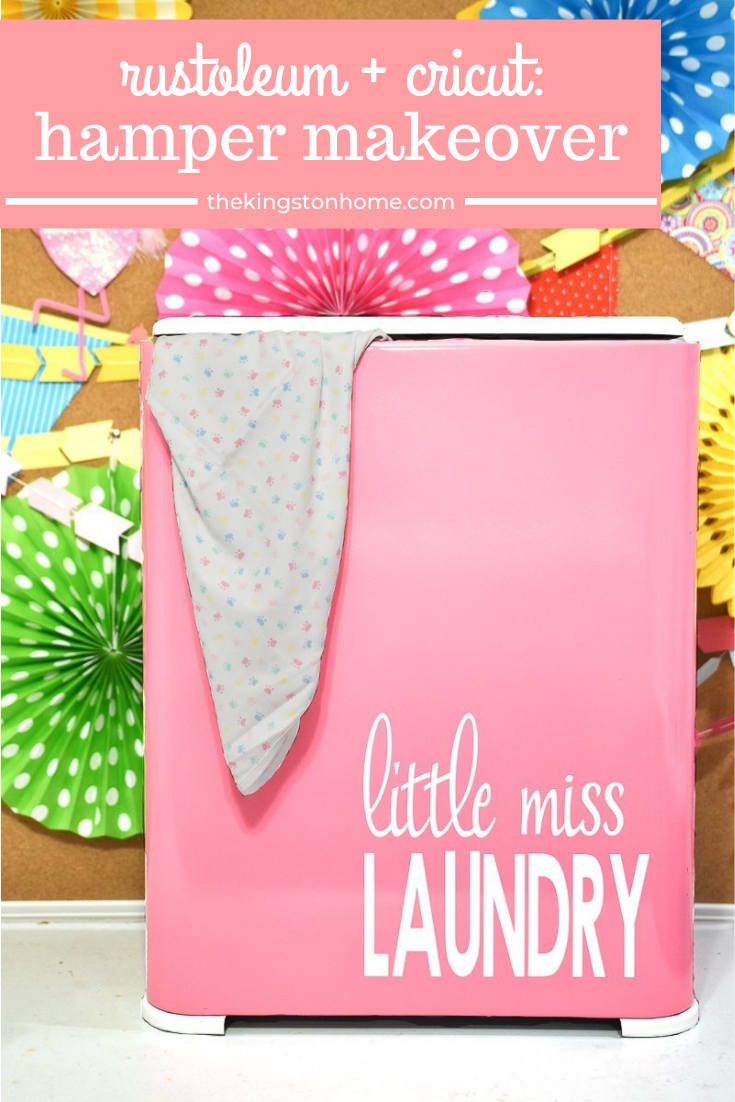 Hamper Makeover - The Kingston Home: Make your least favorite chore a bit more interesting, by giving your laundry hamper a mini makeover! via @craftykingstons