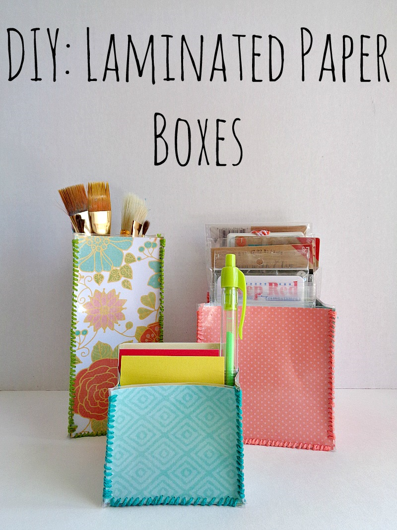 DIY: Laminated Paper Boxes by Running with a Glue Gun
