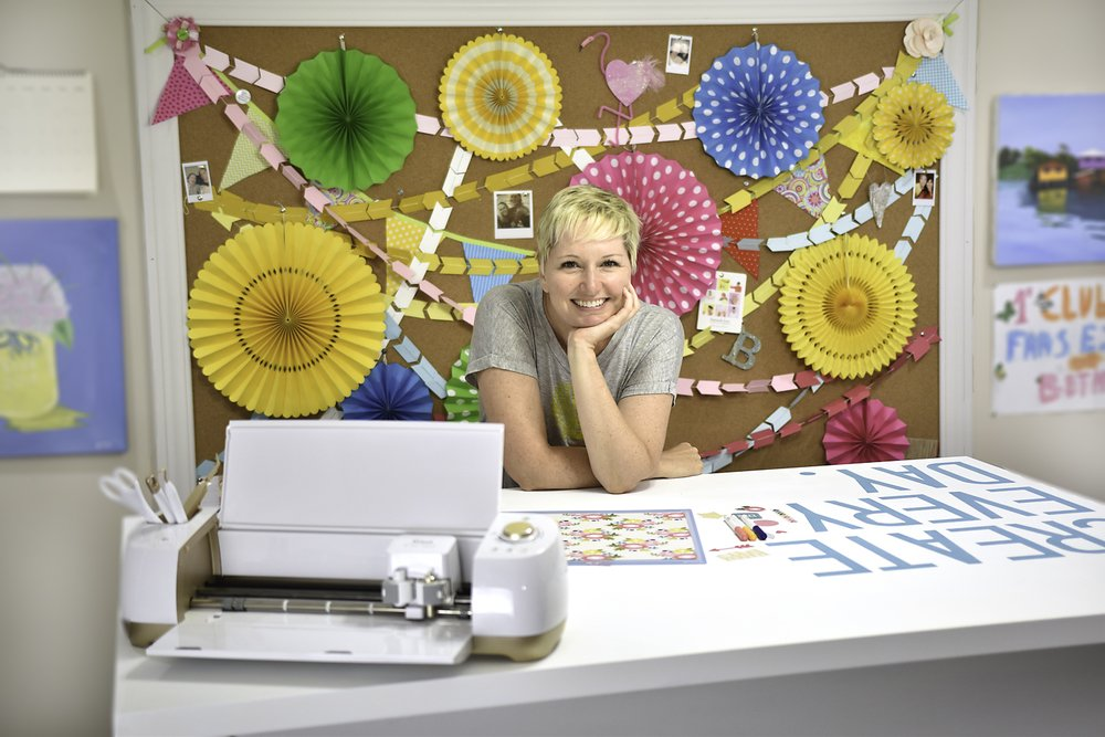 Beth Kingston at craft table