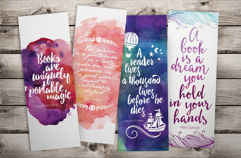 bookmark printables from L'Atelier de Magie