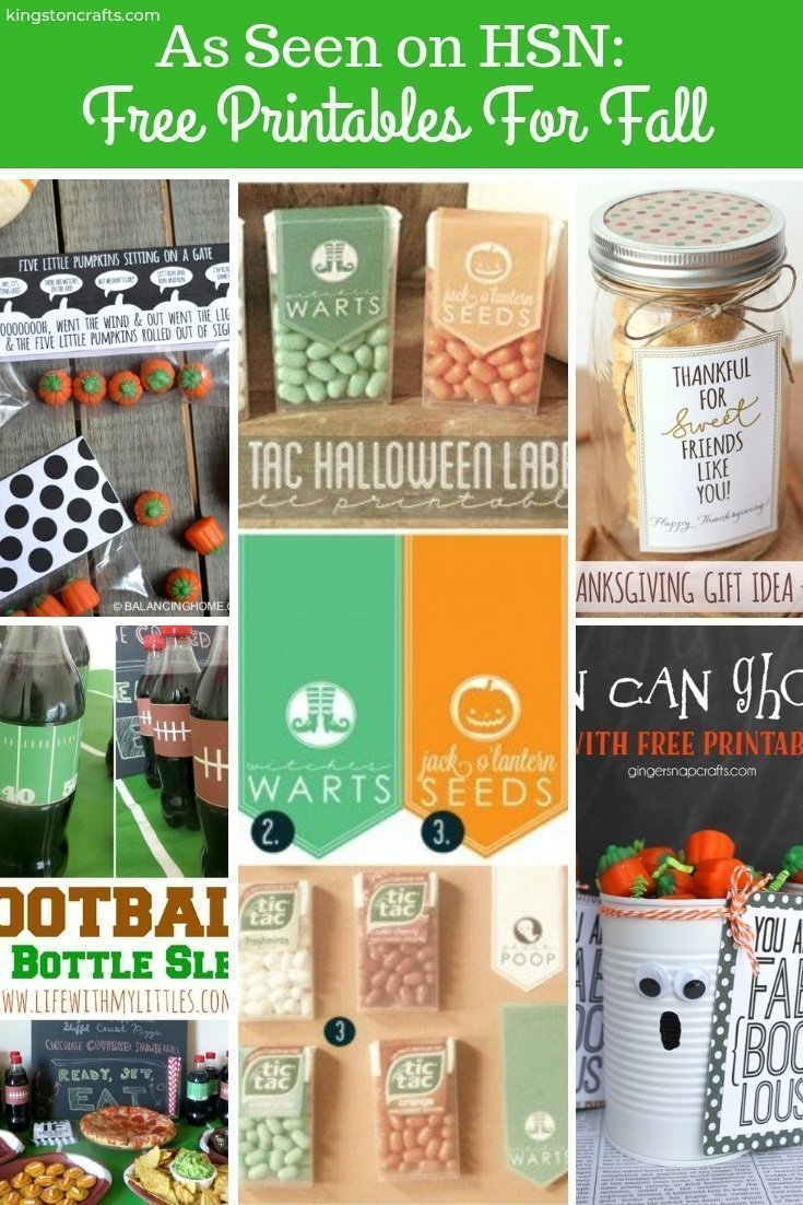 As Seen on HSN: Free Printables For Fall