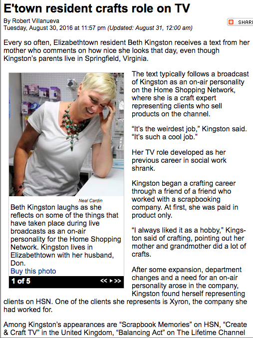Beth Kingston in The News-Enterprise