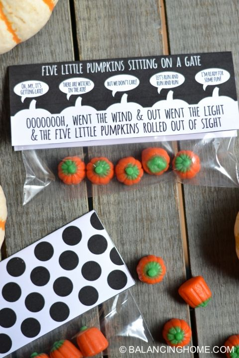 These cute gift bag toppers from balancing home gave me an excuse to go out and buy some candy pumpkins. I NEEDED them! :)