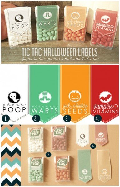 Ghost poop? Witch warts? YES! Love these printable tic tac labels from somewhat simple.
