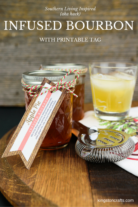 Infused Bourbon with Printable Tag