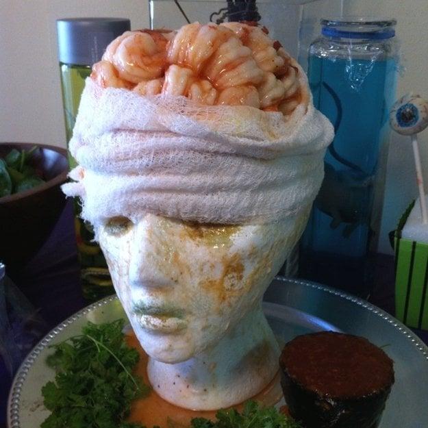 Shrimp Cocktail Brain from Martha Stewart