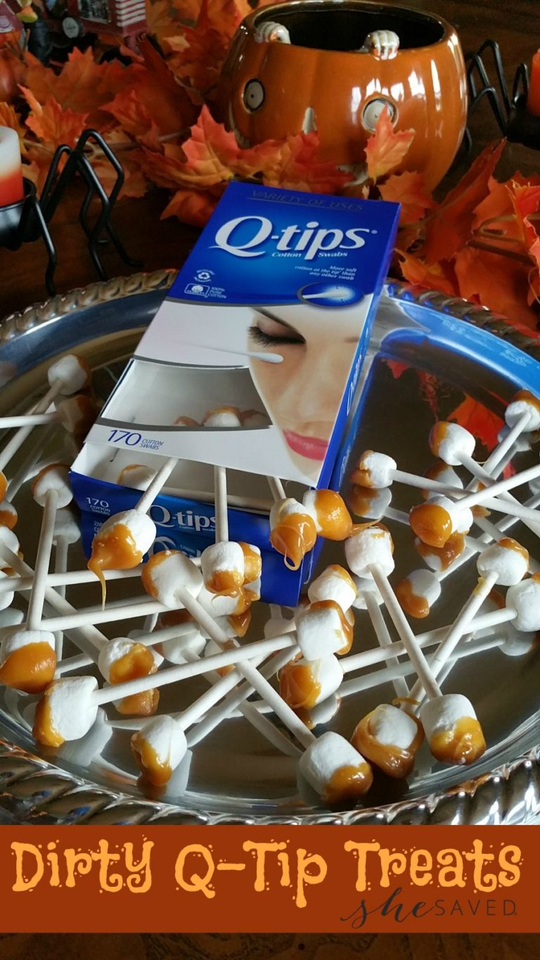 Dirty Earwax Q-Tips from She Saved