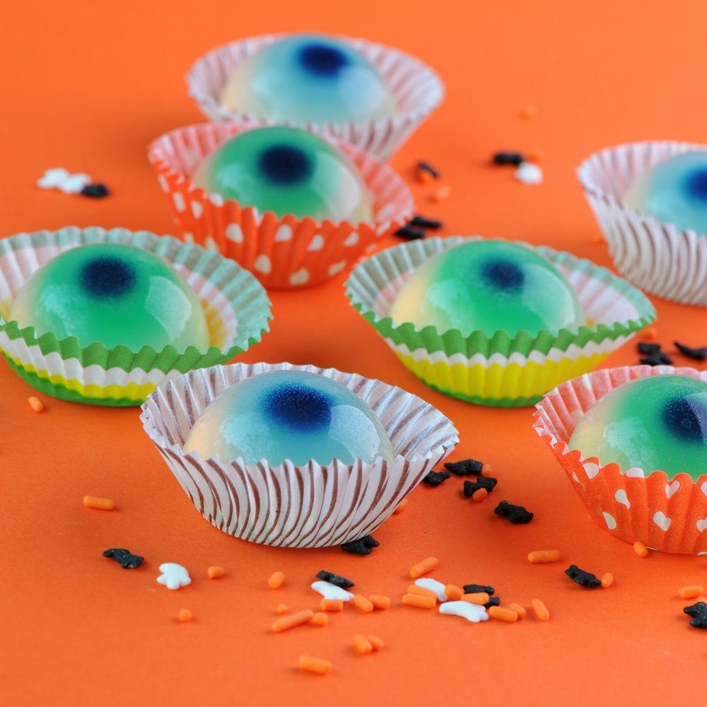 Jellied Eyeballs (non alcoholic) from Jelly Shot Test Kitchen