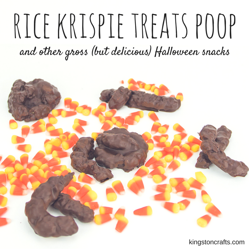 Rice Krispie Treat Poop – and other Gross (but Delicious) Halloween Treats