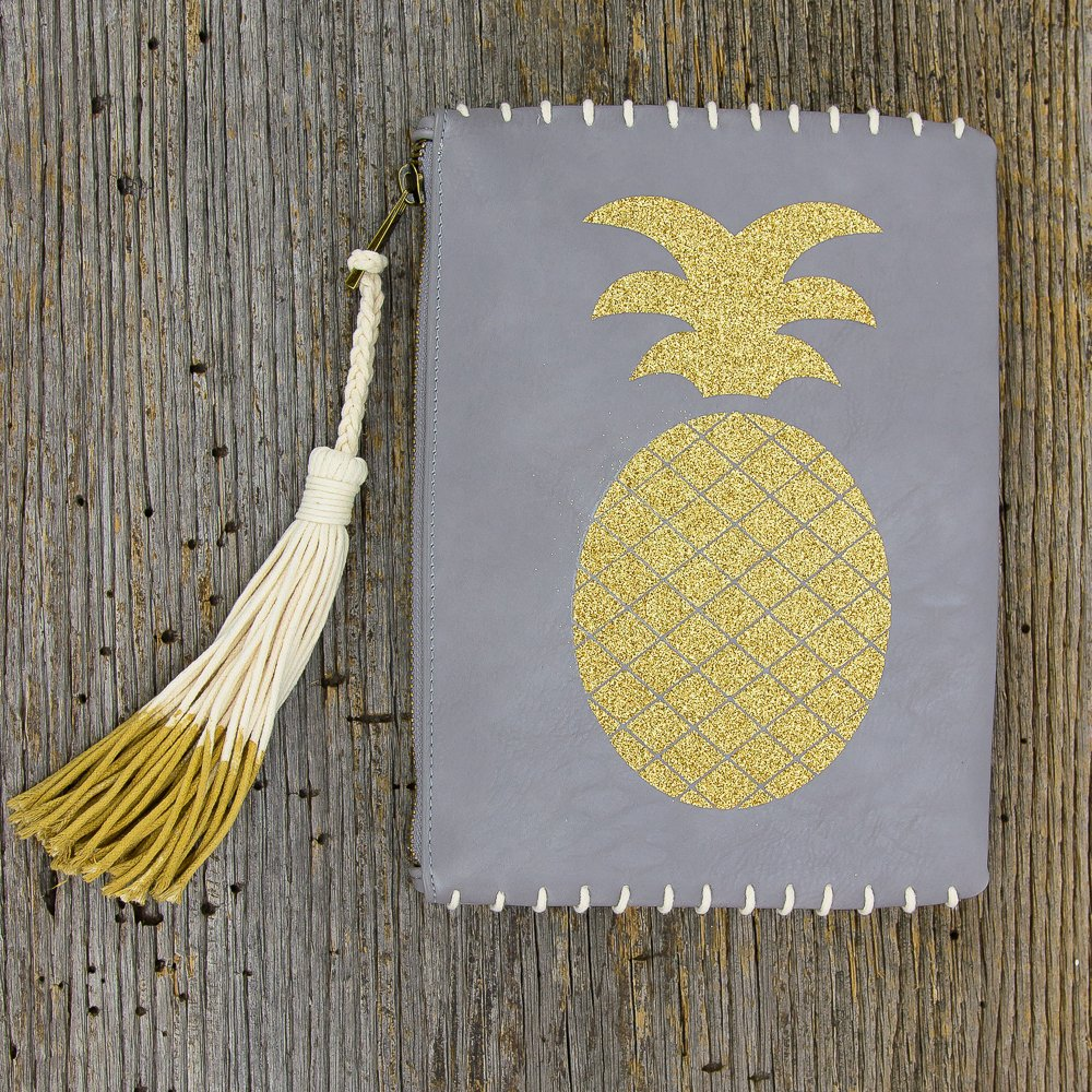pinapple clutch with tassel