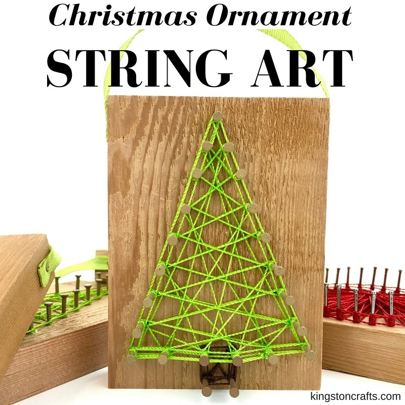 Christmas Ornament String Art