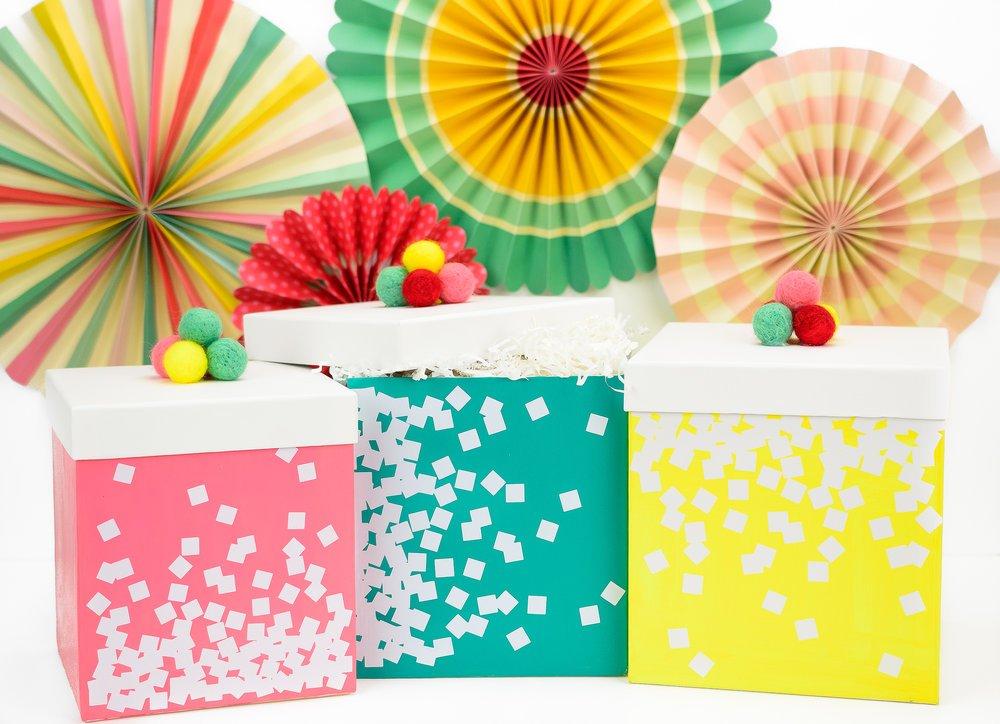 Bright custom gift boxes