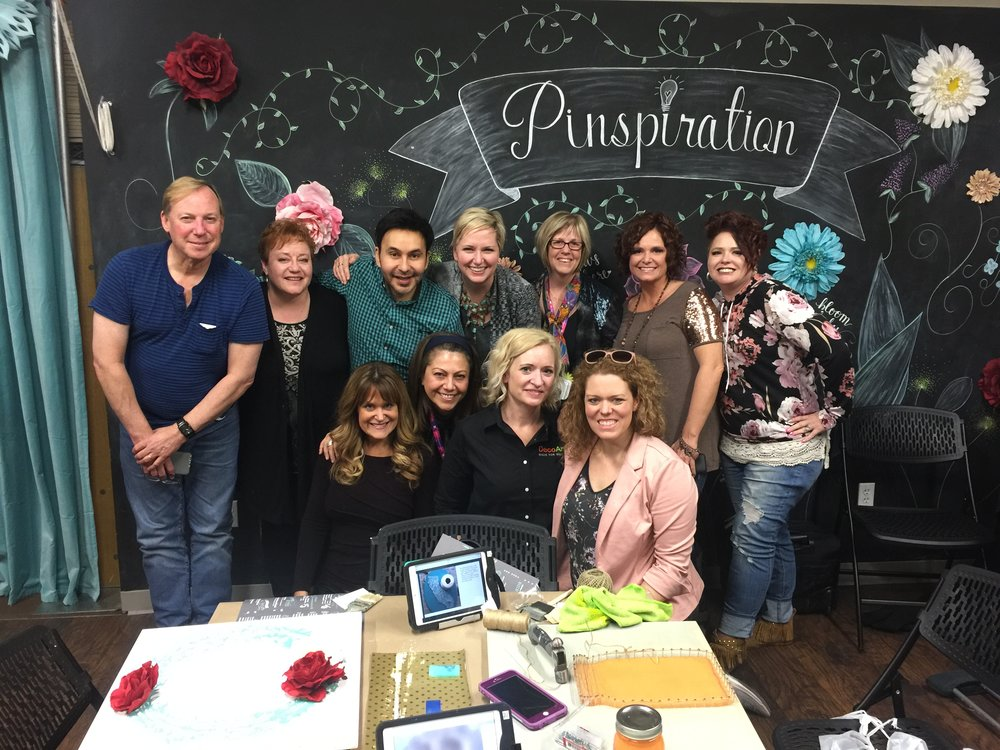 Beth Kingston with friends at Creativation