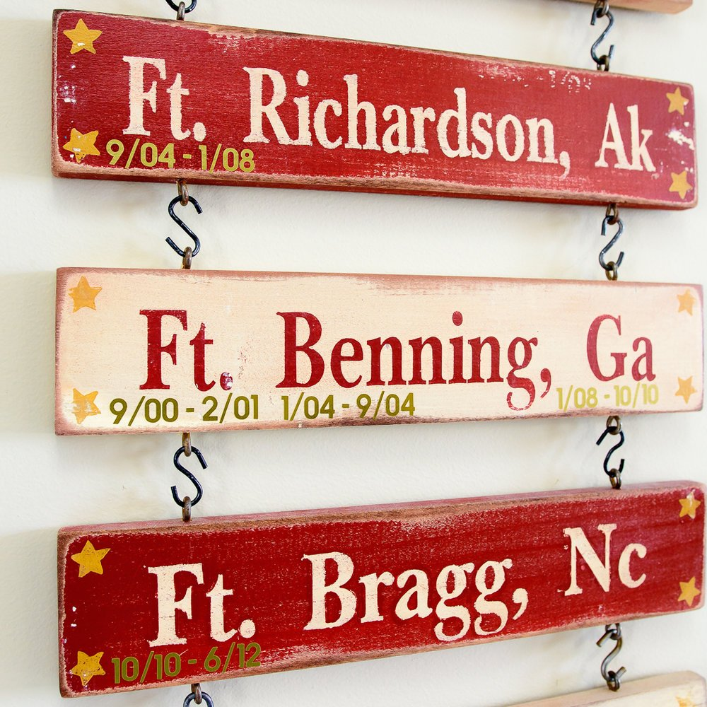 army wall art sign